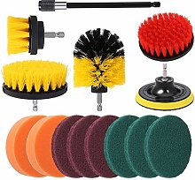 SUI-lim 14Pcs Drill Brush Attachment Kit Nylon