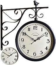 SUIBIANBA Outdoor Garden Large Wall Station Clock
