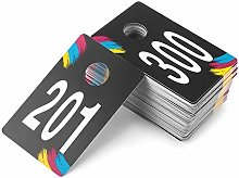 SUKIRA Live Sale Plastic Number Tags, Normal and