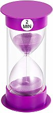 SuLiao Sand Timer 2 Minute Hourglass, Unbreakable
