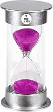 SuLiao Sand Timer 3 Minute Hourglass, Unbreakable