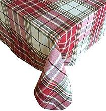 Sully Tartan Christmas Plaid Fabric Tablecloth,