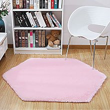 SUMLINK Play Tent Rug, Pink Hexagon Princess Pad
