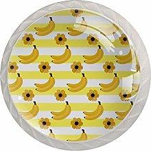Summer Banana Pattern Mushroom Cabinet Knobs Knobs