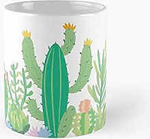 Summer Cool Pastel Cactus Collection 5 Classic Mug