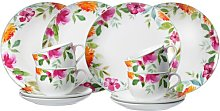 Summer Flowers 12 Piece Coffee Set, Service for 4