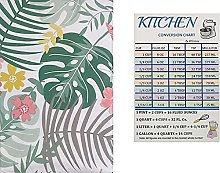 Summer Fun Tropical Flora Vinyl Tablecloth Flannel