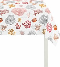 Summer Garden Tablecloth Apelt Colour: Red, Size: