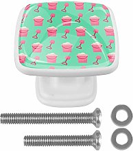 Summer Green Beach Square Drawer Knobs Cabinet
