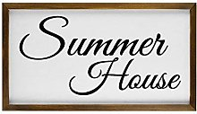 Summer House Accessory Gift Wood Framed Sign Wall