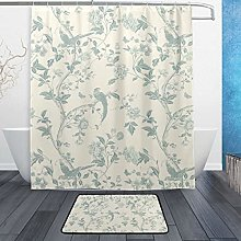 Summer Palace Off White Duck Egg Blue Floral