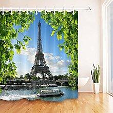 Summer Paris Shower Curtain Waterproof Fabric12