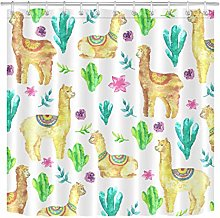 Summer Tropical Leaves Flowers Shower Curtain Set