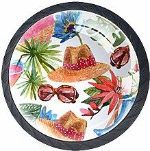 Summer Vacation Travel Pattern Cabinet Door Knobs
