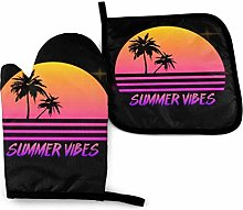 Summer Vibes 80s Retrowave -Oven Mitts and Pot