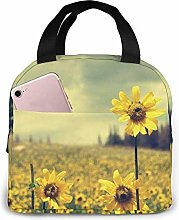 Summer Yellow Flowers Lunch Bag for Women,Lunch