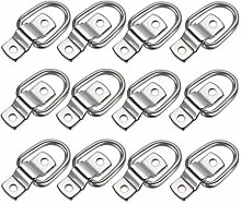 Sumnacon 12Pcs D Ring Tie Down Cargo Lashing Rings