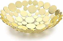 Sumnacon Creative Fruit Basket Metal Fruit Bowl