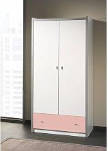 Sumner 2 Door Wardrobe Isabelle & Max Colour: Pink