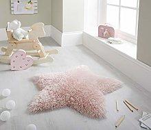 Sumptuous Fluffy Star Shaped Shaggy Kids Nursery
