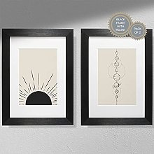 Sun and Planets (Pack of 2) | Sunshine Print |