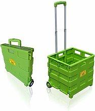 SUN LEISURE® Heavy Duty Folding Trolley Box Cart,