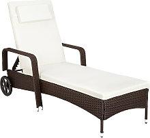 Sun lounger rattan - reclining sun lounger, garden