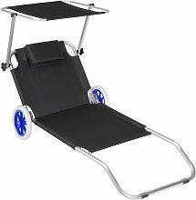 Sun lounger with wheels - sun chair, foldable sun