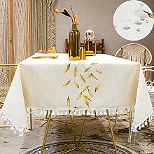 SUNBEAUTY Autumn Leaves Table Cloth Wipe Clean