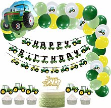 SUNBEAUTY Birthday Party Decorations Tractor Theme