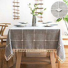 SUNBEAUTY Table Cloth Checked 140x180 Tablecloth