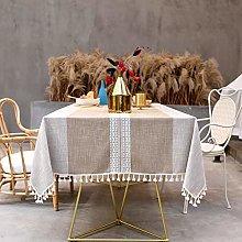 SUNBEAUTY Table Cloth Cotton Linen Rectangular