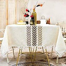 SUNBEAUTY Table Cloth Linen Rectangular 140x180