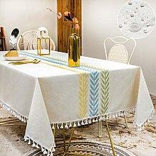 SUNBEAUTY Table Clothes Rectangular Linen 140x220