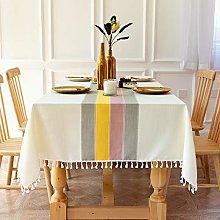 SUNBEAUTY Tablecloths Rectangular Cotton Linen
