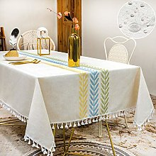 SUNBEAUTY Wipe Clean Tablecloth Rectangular Leaves