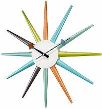 Sunburst Clock Multicolor - Non Ticking,Wooden Mid