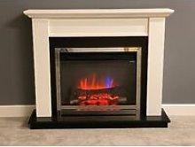 Suncrest Antigua Electric Fireplace Fire Heater