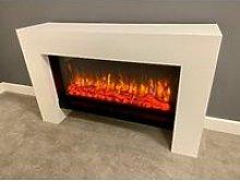 Suncrest Detroit Electric Fireplace Fire Heater