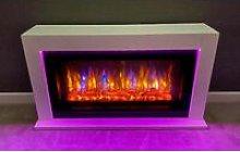 Suncrest Lumley Electric Fireplace Fire Heater