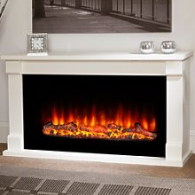 Suncrest White Electric Fireplace Suite - Low