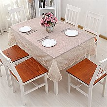 SUNFDD Thick Lace Tablecloth Pure Color Outdoor