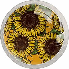 Sunflower 4 Pack Round ABS Drawer Knob, Unfinished