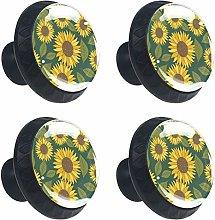 Sunflower 4PCS Round Drawer Knob Pull Handle