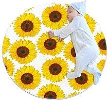 Sunflower, Baby Game Blanket Baby Round Pattern