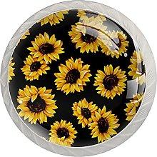 Sunflower Black 4PCS Round Shape Cabinet Knobs for