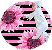 Sunflower Black And Dark Pink Stripe Pattern Anti