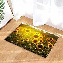 Sunflower. Door Mat Front Door Carpet Non-Slip