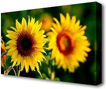 Sunflower Duo Flowers Canvas Print Wall Art East
