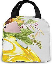 Sunflower On Yellow Car Lunch Bag Tote Bag Lunch